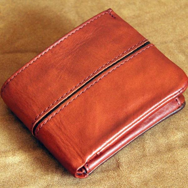 Baggy Port(バギーポート)二つ折財布 フルクロームツートン HRD-408 キャメル|kokochi|09