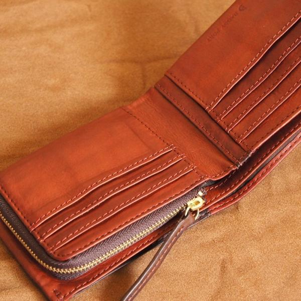 Baggy Port(バギーポート)二つ折財布 フルクロームツートン HRD-408 レッド|kokochi|03