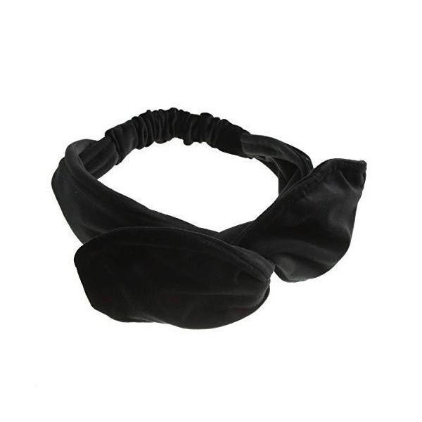 [ヴァンテーヌ] VINGTAINE ベロア ワイド ターバン ヘアバンド シンプル クロス ワイヤー入り ヘアアクセサリー H7180-BK- ブ