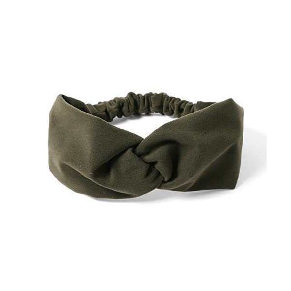 (エムエイチエー) M.H.A.style ベロア調 クロスデザインヘアバンド カチューム ターバン 秋冬 21233 D.オリーブ