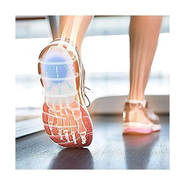 BigMe 足底筋膜炎 ジェルヒールカップ 中敷き インソール かかとサポーター 衝撃吸収 足の痛みを緩和 シリコン採用 カップ型