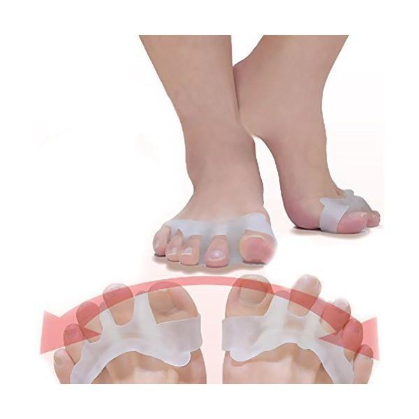 外反母趾 サポーター JUSYO 足の痛みを軽減 足指矯正シリコンパッド 姿勢補正 浮き指 足指健康グッズ 男女兼用2個セット