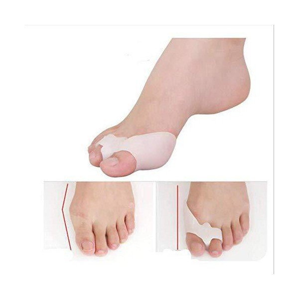 BigMe 外反母趾 サポーター 親指矯正サポーター 足矯正パット 痛み緩和 趾間ゲル入り 足用保護 フットケア 固定 2个入