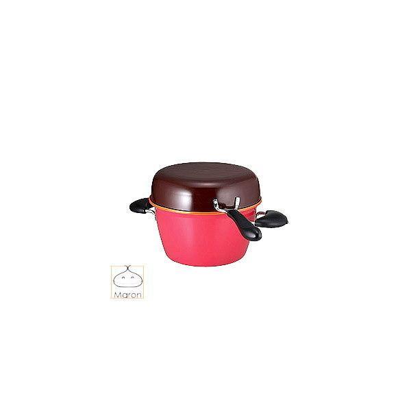 お鍋セット 25cm マロン ポットパン 25cm 送料無料 IH対応 カラフル 明るい かわいい キッチン用品 食器 コンパクト収納 深型 鍋 フライパン