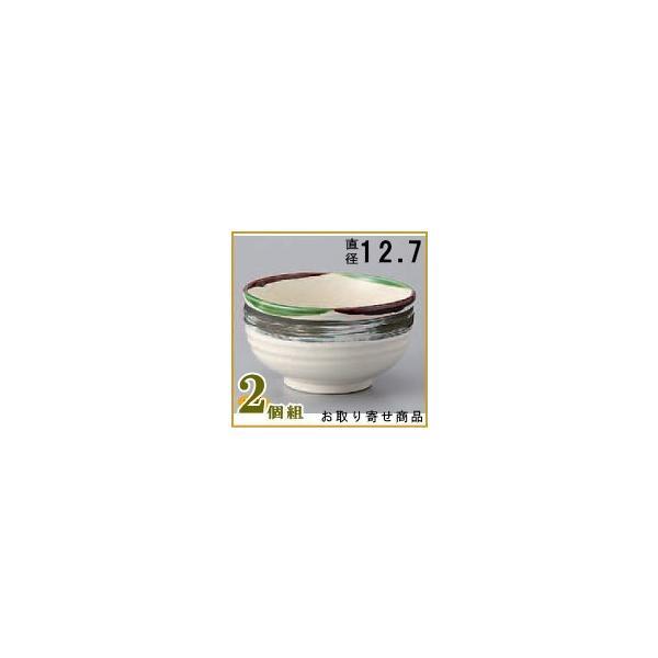 どんぶり 日本製 /2個組  刷毛2色織部多用碗×2個 和食器/食器/業務用/調理器具/飲食店/料理店/陶器/器/鉢/ミニカツ丼 ミニてん丼 ミニ牛丼 等の ミニ丼の器に