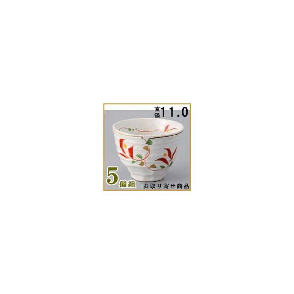 どんぶり 小鉢 日本製 /5個組  赤唐草絶品手描き小丼ぶり×5個 和食器/食器/業務用/飲食店/和菓子屋/デザート みつ豆 あんみつ ぜんざい お汁粉 の 盛り付け/
