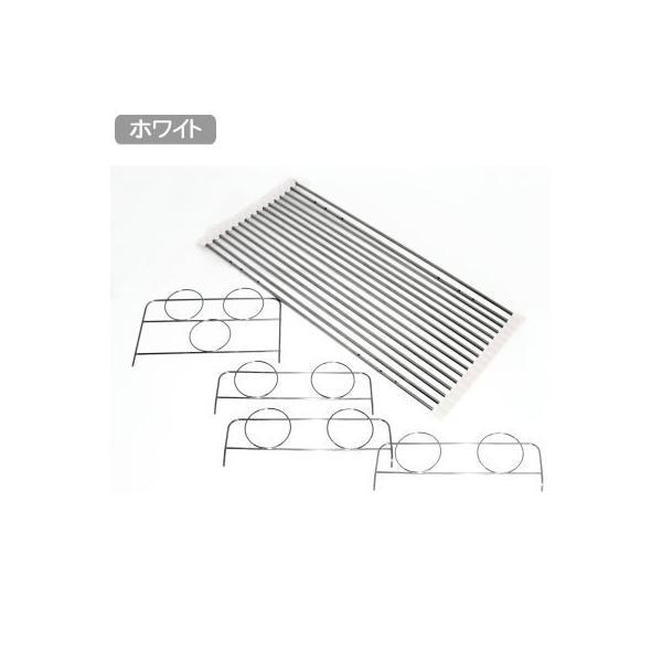水切りかご ステンレス 日本製 シンクバスケット クリーン(ホワイト) 水切りカゴ すのこタイプ 簀子 すのこ 18-8 ステンレス 水切り
