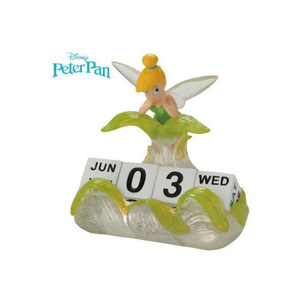 カレンダー デスクトップカレンダー ティンカーベル ディズニー ピーターパン キャラクター かわいい 万年カレンダー 卓上カレンダー