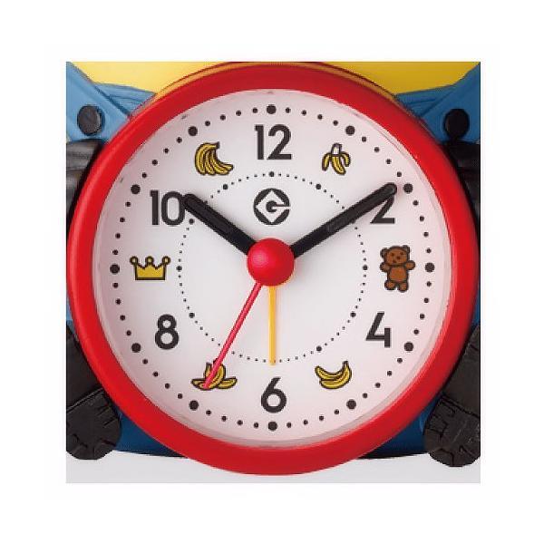 楽しく起きられるミニオンズのボブの目覚まし時計 インテリアにもおすすめ RHYTHM/リズム クォーツ時計/目覚まし時計 【ボブR30】[送料区分:A]|kokuga-shop|02