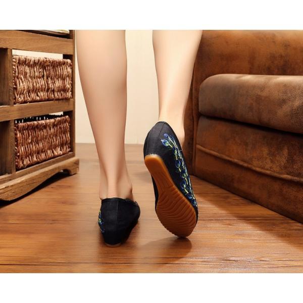 特価!スリッパ 履きやすい チャイナ靴美脚チャイナシューズ中華布靴民族風刺繍スニーカー朝練太極拳 ダンスシューズ 北京靴パンプス通気性優 ローファー