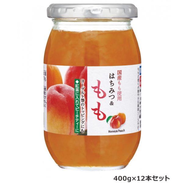 加藤美蜂園本舗 国産もも使用 はちみつ&もも 400g 12本セット 日本産 果肉 ピーチティー