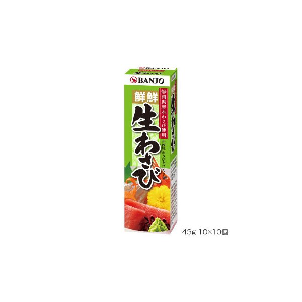 BANJO 万城食品 チューブ入り生わさび 43g 10×10個入 160049 wasabi 業務用 調味料