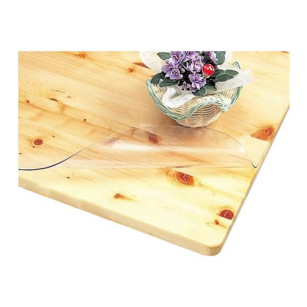 KMGK-9015 3点機能付透明テーブルマット 90cm×150cm×1mm 透明 透明ビニール テーブルクロス 静電気防止