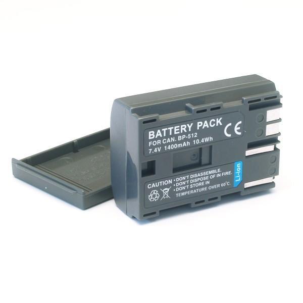 キヤノン用(Canon用) ビデオカメラ BP-512/BP-514互換バッテリー (メール便)