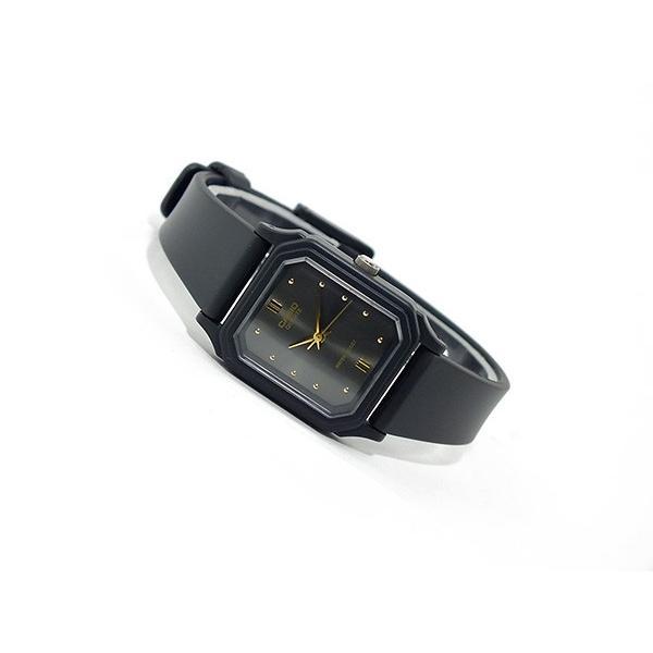 カシオ CASIO クオーツ 腕時計 レディース LQ142E-1A メタルブラック メタルブラック×ブラック (メール便不可)