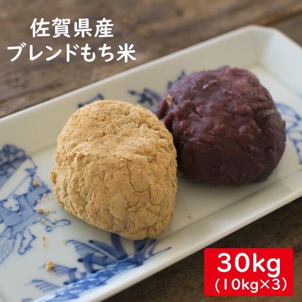 佐賀県産ブレンドもち米(中粒) 白米30kg(10kg×3)送料無料 お徳用 業務用