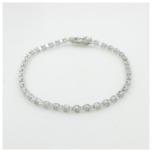 K18WG ダイヤモンドブレスレット