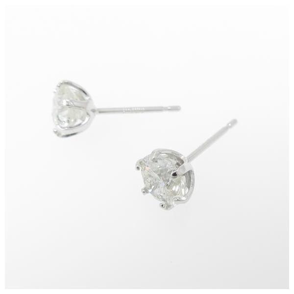 K18WG ダイヤモンドピアス