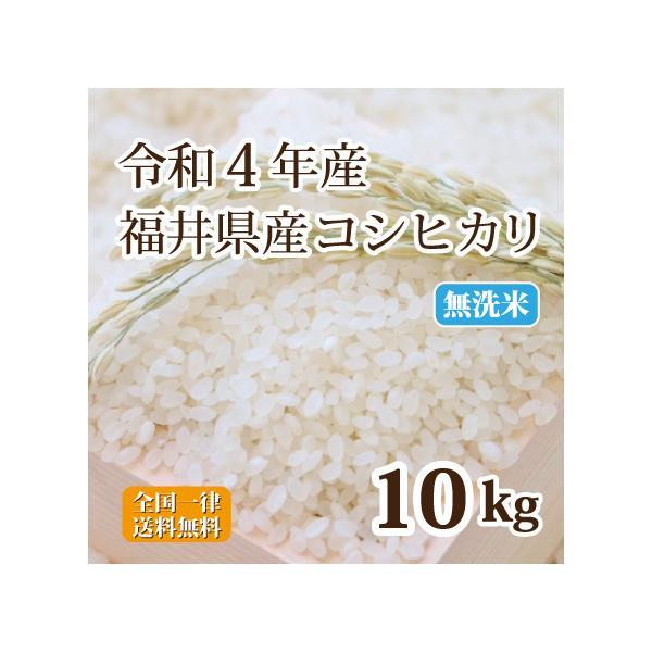 令和2年産 福井県産コシヒカリ10割 無洗米 10kg 白米 安い 5kg×2 送料無料
