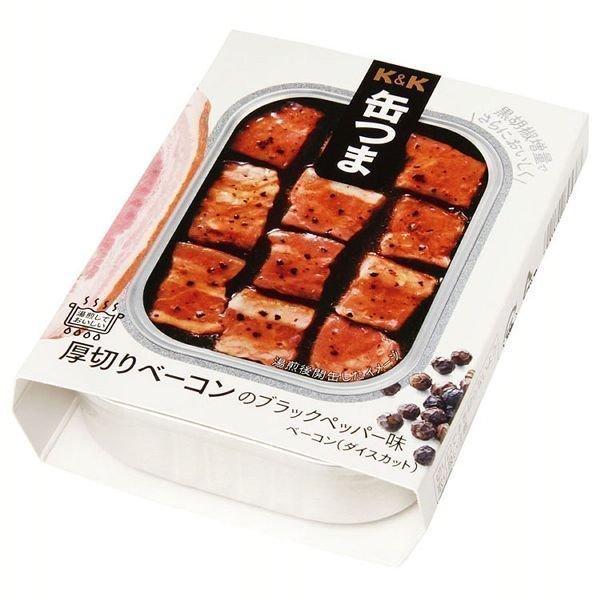 缶つま 厚切りベーコンのブラックペッパー味  国分グループ本社  缶詰 おつまみ (D)
