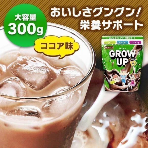 GROW UP 成長期応援飲料 健康サポート 成長期 カルシウム 鉄分 GROW UP 300g  (D)
