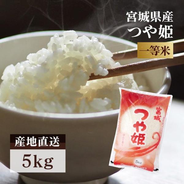 米 5kg 新米 つや姫 送料無料 米5kg 一等米 安い つや姫 宮城県産 お米  白米 うるち米 おいしい 令和3年産