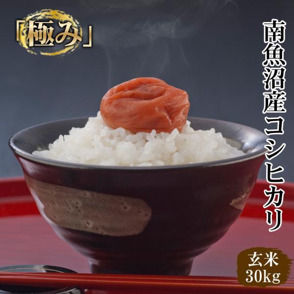 <送料無料>新潟県南魚沼しおざわ産プレミアムコシヒカリ「極み」 玄米30kg