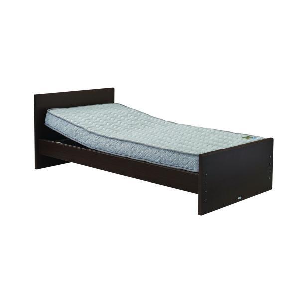 シンプリー ヘッドリクライニング ベッドセット(ポケットコイルマットレス)