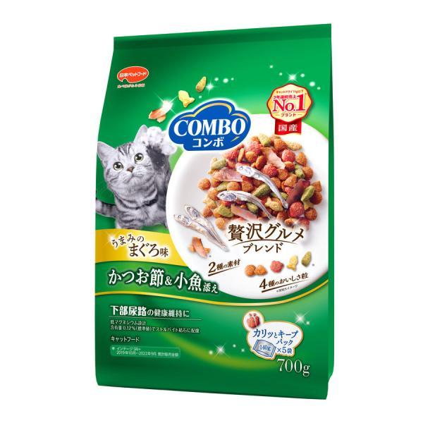 日本ペット コンボ キャット まぐろ味 かつおぶし 小魚添え 700g