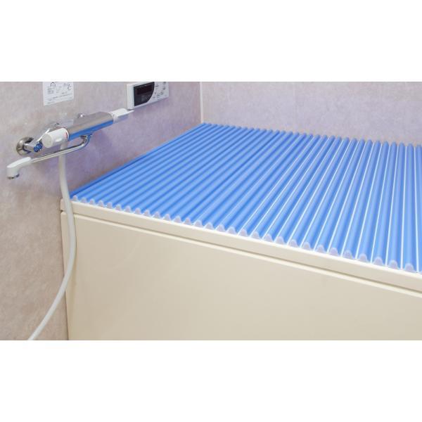 シャッター式風呂フタ カラーウェーブ M11 幅1111×奥行700mm ブルー