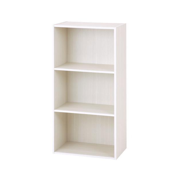カラーボックス 3段 ホワイト E1