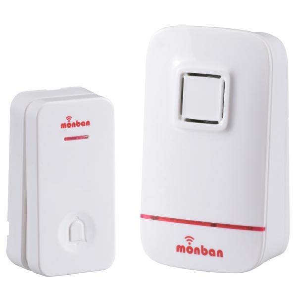 押しボタンの電池がいらないワイヤレスコールチャイム 受信機は電池式