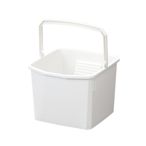 汚れがしっかり落とせる 洗濯板付きバケツ 10L