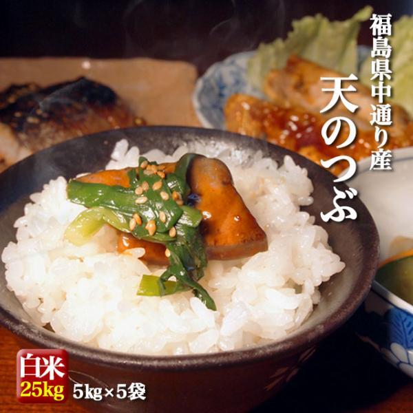 米 お米 令和元年産 福島県中通り産 天のつぶ 白米:25kg(5kg×5個)  送料無料 ※送料沖縄3,000円お米 小分け|komeyamayoshi