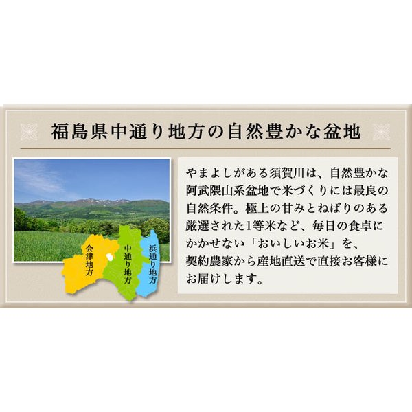 真空パック♪4銘柄食べ比べセット 福島県中通り産 白米8kg(1kg×8個)|komeyamayoshi|02