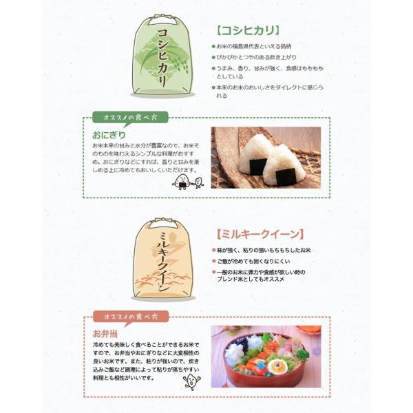 真空パック♪4銘柄食べ比べセット 福島県中通り産 白米8kg(1kg×8個)|komeyamayoshi|06