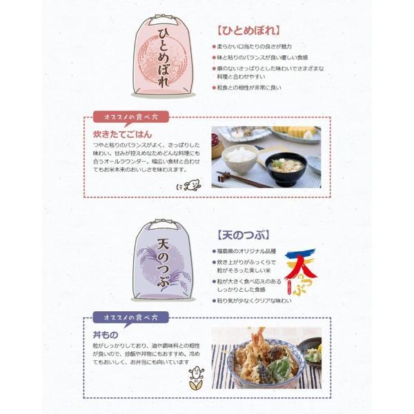 真空パック♪4銘柄食べ比べセット 福島県中通り産 白米8kg(1kg×8個)|komeyamayoshi|07