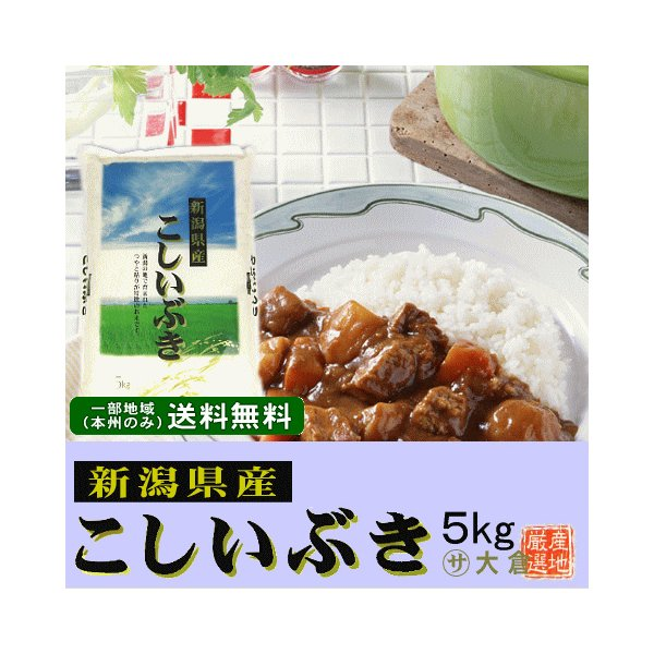 新潟県産こしいぶき(令和2年産)5kg【送料無料(本州のみ)】