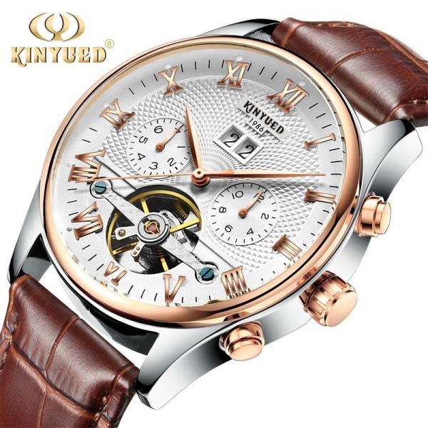 海外人気ブランド☆ミ 自動巻き 腕時計 スケルトン 完全機械式トゥールビヨンメカニカル ブラックゴールド腕時計 メンズ メンズ腕時計|komonogenza|02