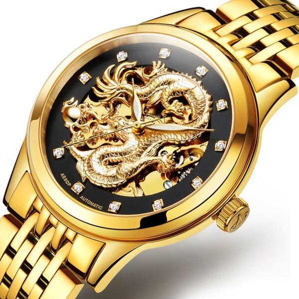 海外人気ブランド☆ミ 自動巻き 腕時計 スケルトン 完全機械式腕時計 腕時計 腕時計 Watch ウォッチ 高級 時計 ドラゴン カジュアル|komonogenza|02