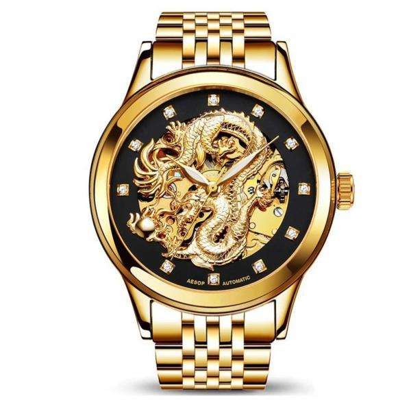 海外人気ブランド☆ミ 自動巻き 腕時計 スケルトン 完全機械式腕時計 腕時計 腕時計 Watch ウォッチ 高級 時計 ドラゴン カジュアル|komonogenza|03
