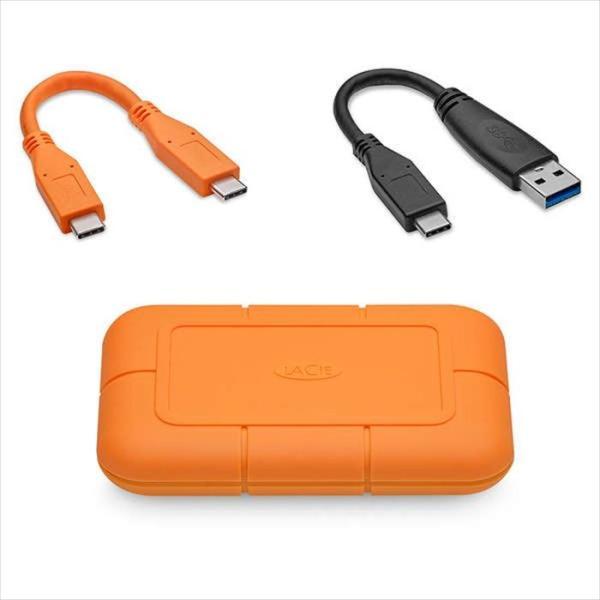 代引不可 LaCie Rugged SSD 500GB USB3.1 950MB/s 映像 超高速転送 防水 防塵 耐衝撃 エレコム STHR500800|konan|02
