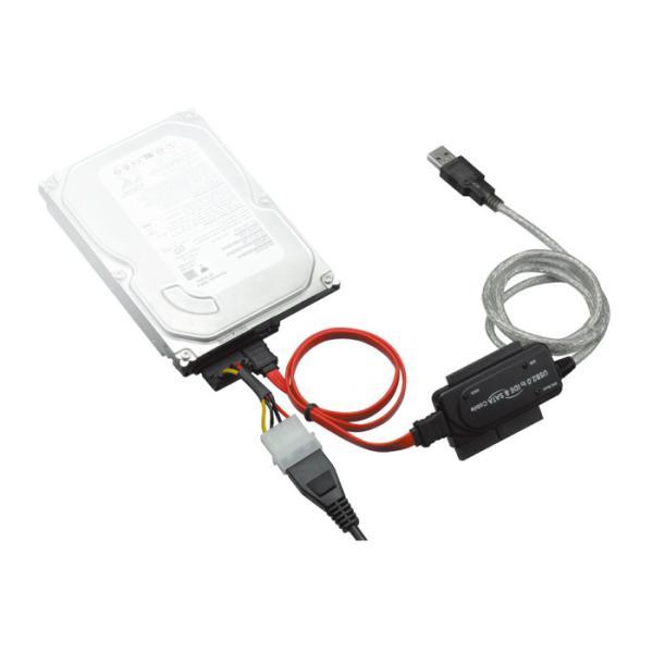 あすつく SATA/IDE-USB2.0 USB変換アダプタ IDE/SATAのHDDをそのままUSB接続 3.5インチ/2.5インチHDD対応 グリーンハウス GH-USHD-IDESA|konan