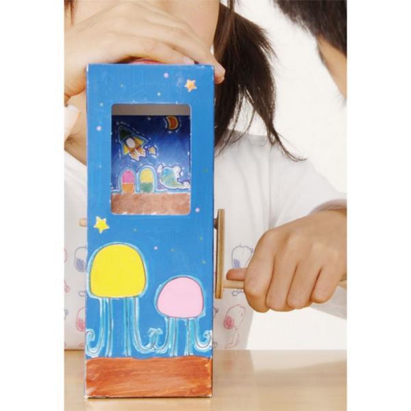 アニメーションボックス 簡単組立! 図工 工作 手作り 夏休み 宿題 課題 創作 意欲 楽しい 勉強 学習 アーテック 830|konan|03