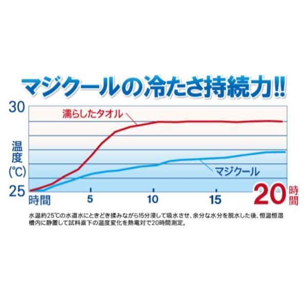 冷感持続 抗菌防臭 マジクール ネッククーラー M レギュラーサイズ 首もと ひんやり 熱中症対策 暑さ対策 MAGICOOL 大作商事 MCFT6|konan|05
