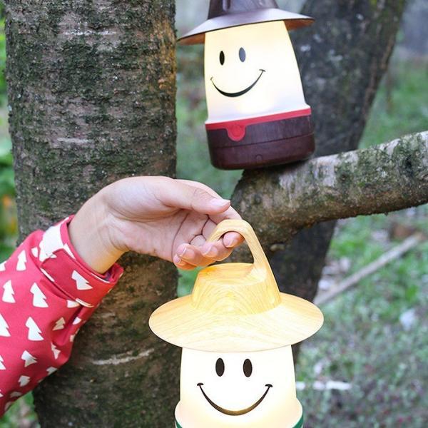 ランタン LEDランタン スマイルLEDランタン ウッディー 吊り下げ ランプ 照明 吊るし ルームランプ キャンプ アウトドア 置き型 かわいい SMILE|konan|03