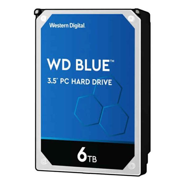 内蔵ハードディスクドライブ WD Blueシリーズ デスクトップ向け SATA 6Gb/s 256MB 6TB 5,400rpm class 3.5inch AF対応 Western Digital WDC-WD60EZAZ