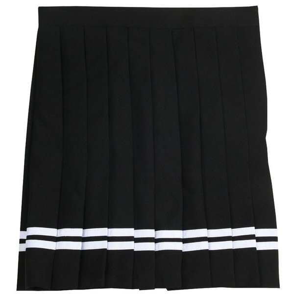 TEENS EVER 12AW スカート(ブラックX白ライン) Mサイズ スクールスカート スカート プリーツ 女子 レディース 高校生 中学生 4560320846147|konan|02