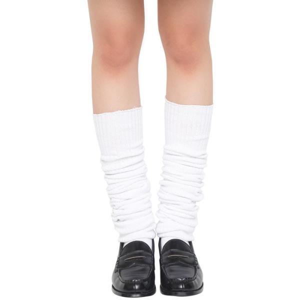TEENS EVER ルーズソックス 120cm 無地 白 靴下 スクールソックス 女子 制服 無地 高校生 JK クリアストーン 4560320861256|konan|03