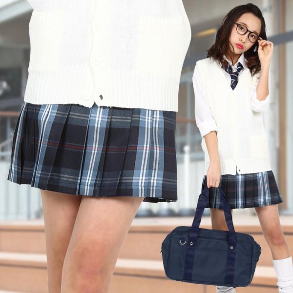 TEENS EVER 16SS 無地 プリーツスカート(ネイビー×ブルー Mサイズ) スクールスカート 制服 無地 女子 レディース 高校生 中学生 学校 4560320864547|konan